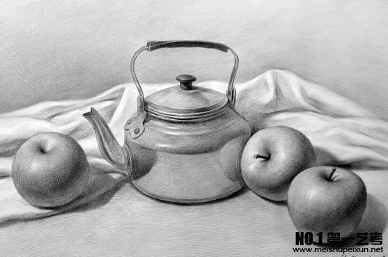 青岛美术辅导之素描苹果画法