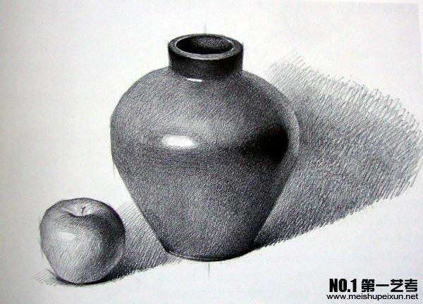 百合花的画法素描图片 素描罐子画法步骤大图 百合花-在线观看罐图片