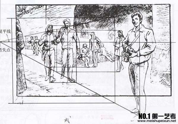 青岛美术辅导之绘画中的透视图片